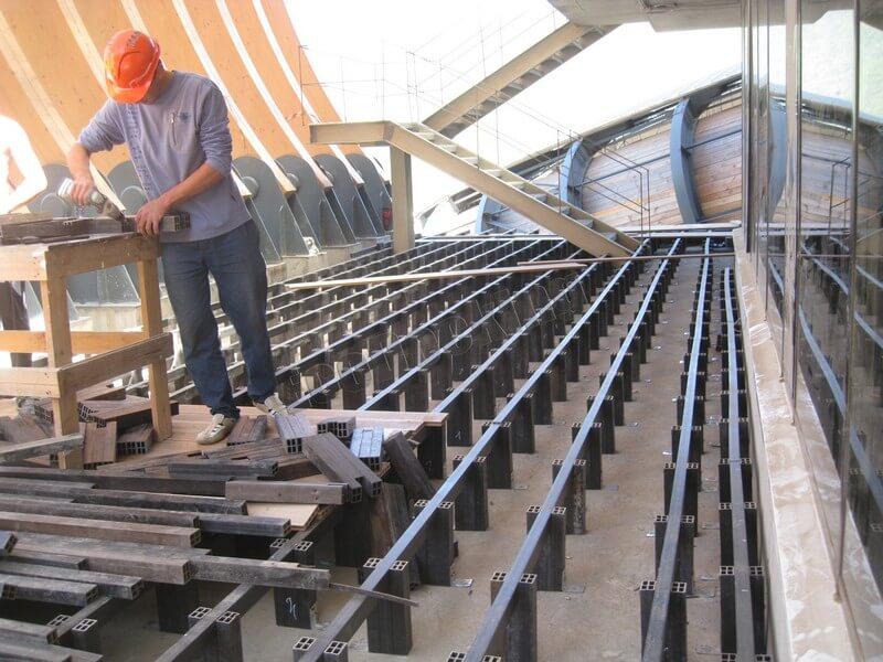 Лаги из ДПК для установки террасной доски