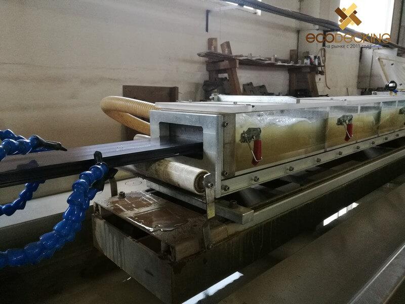 Процесс изготовления террасной доски